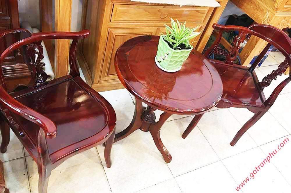 Bộ bàn trà gỗ xoan đào BN013 (1)