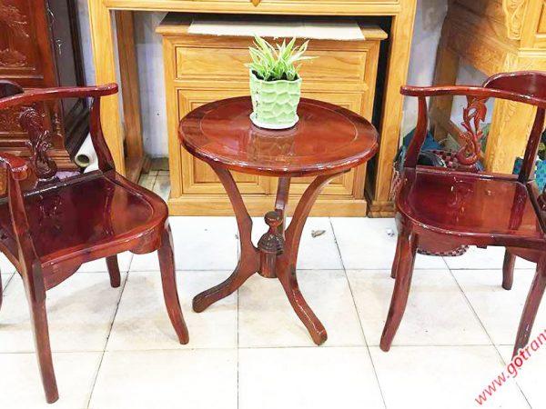 Bộ bàn trà gỗ xoan đào BN013 (2)