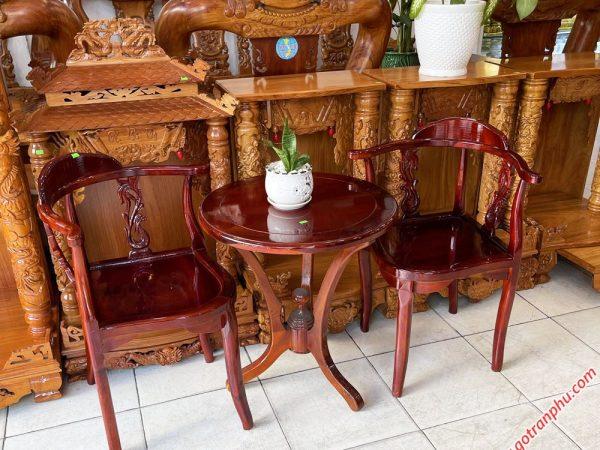 Bộ bàn trà gỗ xoan đào BN013 (3)