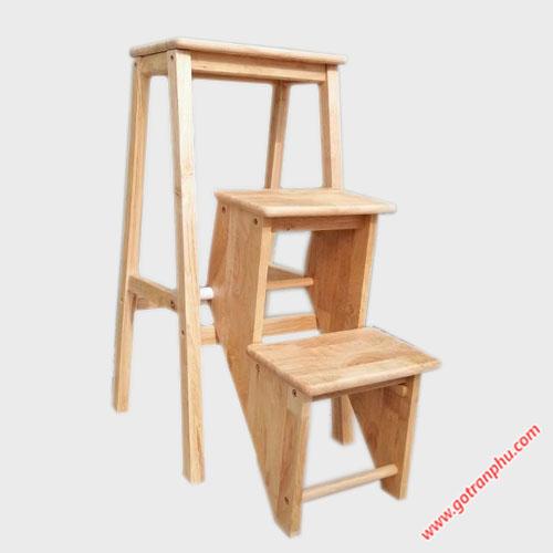 Ghế thắp nhang 3 bậc xếp gỗ cao su GH037 (1)
