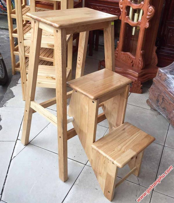 Ghế thắp nhang 3 bậc xếp gỗ cao su GH037 (2)