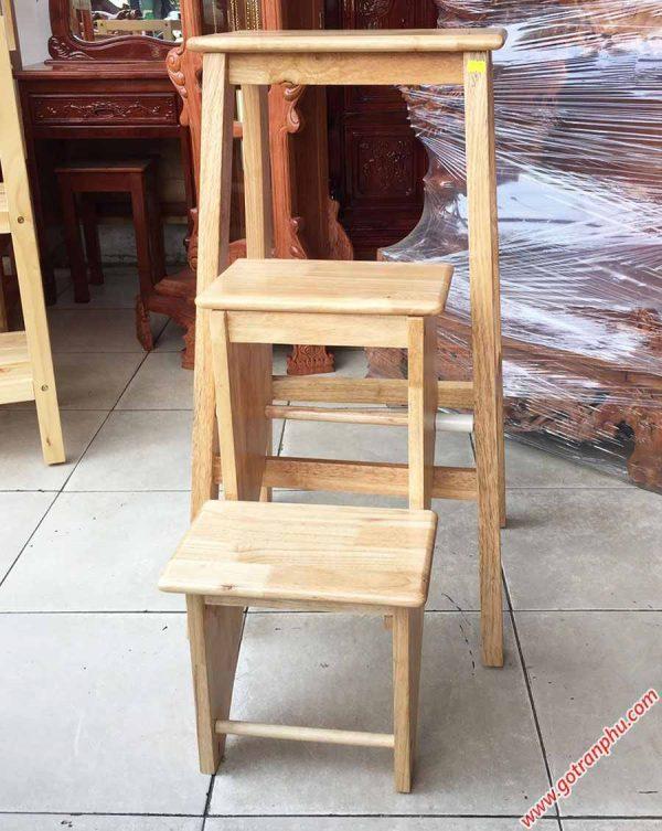 Ghế thắp nhang 3 bậc xếp gỗ cao su GH037 (4)