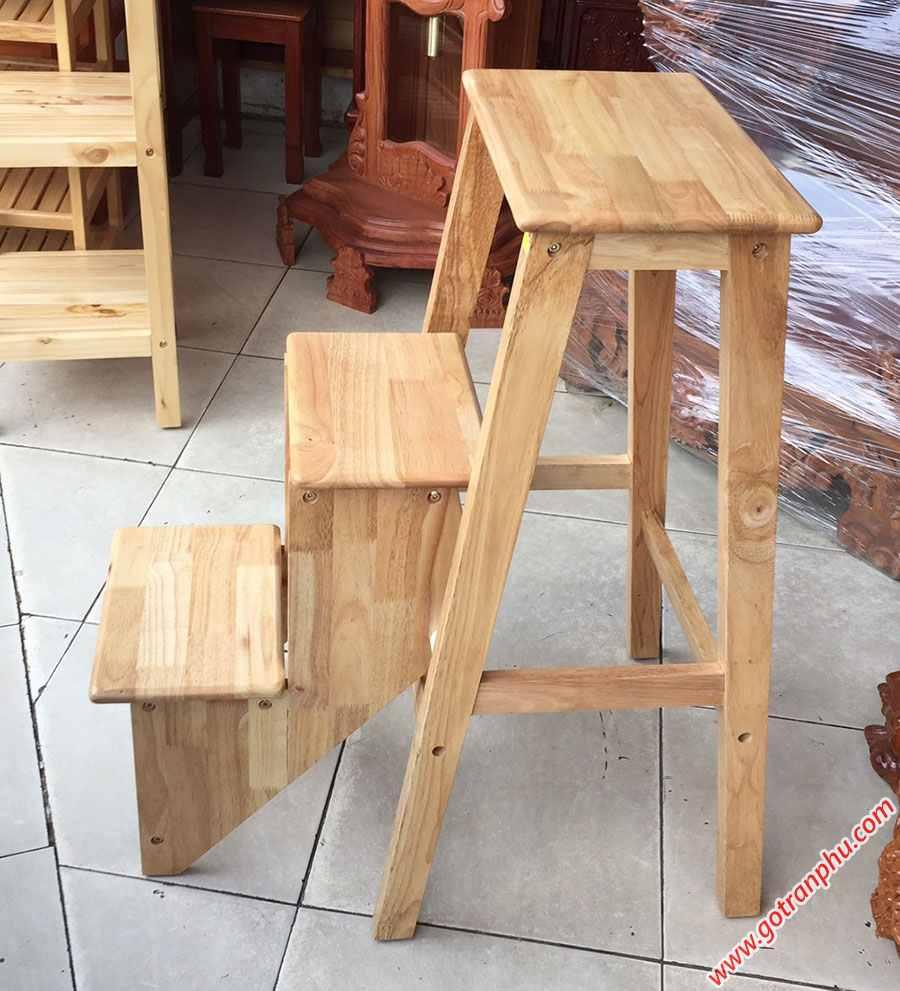 Ghế thắp nhang 3 bậc xếp gỗ cao su GH037 (5)