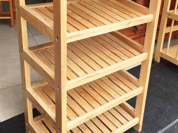 Kệ giày dép gỗ cao su 5 tầng ngang 45cm KD007 (9)