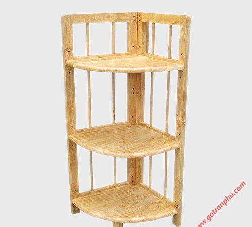 Kệ góc (nhỏ) 3 tầng gỗ cao su KS036 (3)