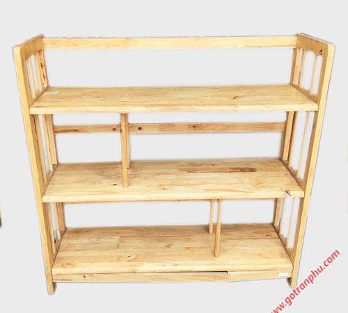 Kệ sách gỗ cao su 3 tầng ngang 1m KS006 (4)