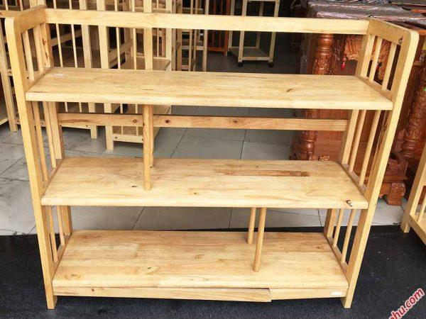 Kệ sách gỗ cao su 3 tầng ngang 1m KS006 (5)