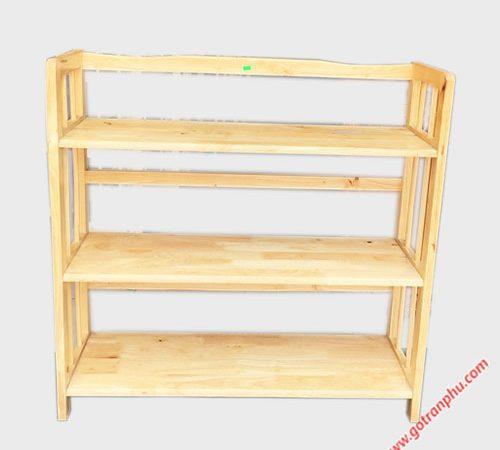 Kệ sách gỗ cao su 3 tầng ngang 90cm (3)