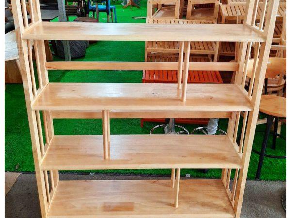 Kệ sách gỗ cao su 4 tầng ngang 1m (a)