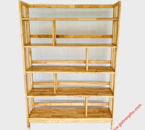 Kệ sách gỗ cao su 5 tầng ngang 1m - 1m2 (3)