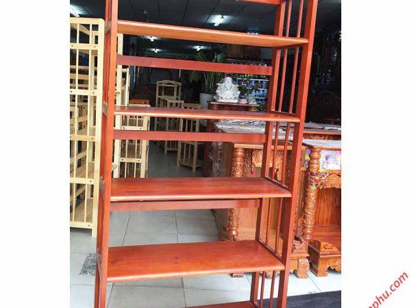 Kệ sách gỗ cao su 5 tầng ngang 80cm KS016 (4)
