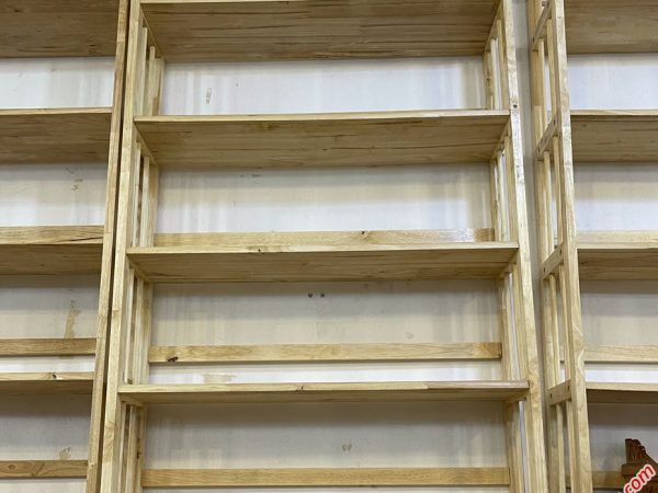 Kệ sách gỗ cao su 5 tầng ngang 90cm KS017 (2)