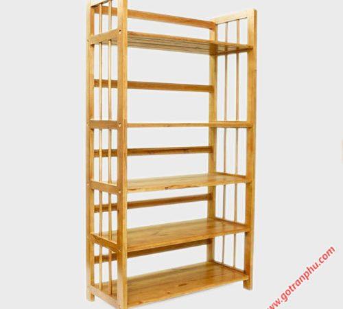 Kệ sách gỗ cao su 5 tầng ngang 90cm KS017