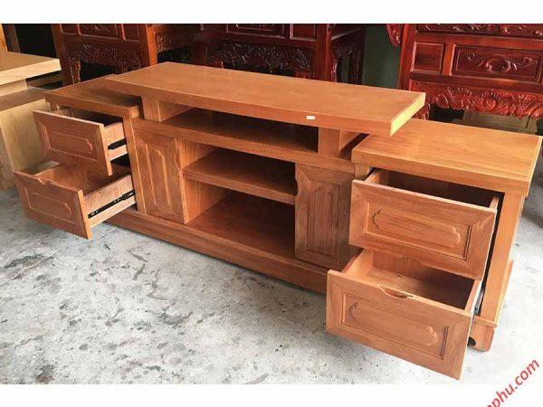 Kệ tivi gỗ Đinh Hương 1m6 - 1m8 -2m (1)