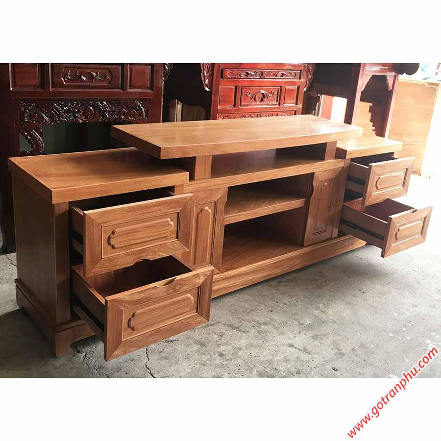 Kệ tivi gỗ Đinh Hương 1m6 - 1m8 -2m (2)