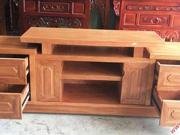 Kệ tivi gỗ Đinh Hương 1m6 - 1m8 -2m (5)