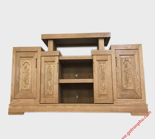 Kệ tivi gỗ sồi Mỹ 1m6 - 1m8 -2m (11)