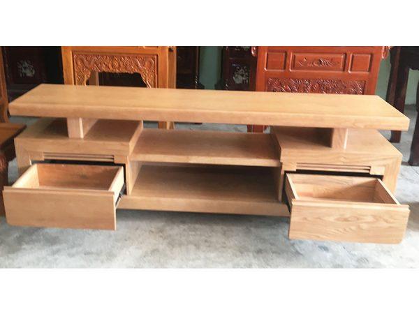 Kệ tivi gỗ sồi Mỹ 1m6 - 1m8 -2m (8)