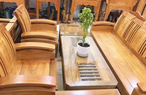 Sofa thùng gỗ gõ đỏ (Hùng Công) (1)