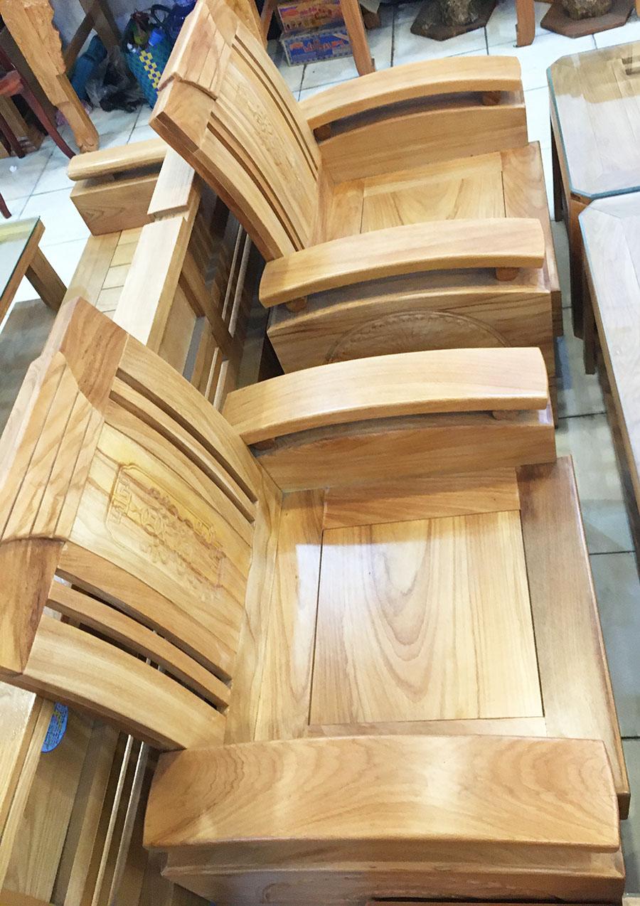 Sofa thùng gỗ gõ đỏ (Hùng Công) (2)