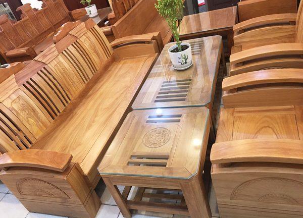 Sofa thùng gỗ gõ đỏ (Hùng Công) (4)