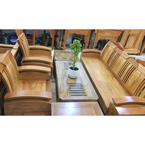Sofa thùng gỗ gõ đỏ (Hùng Công) (5)