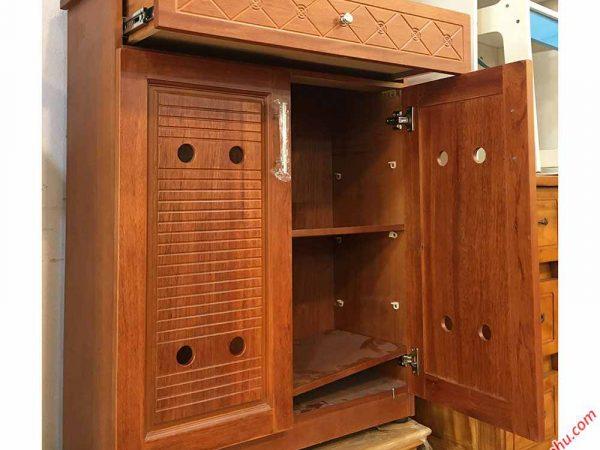 Tủ giày dép gỗ căm xe 80cm (3)