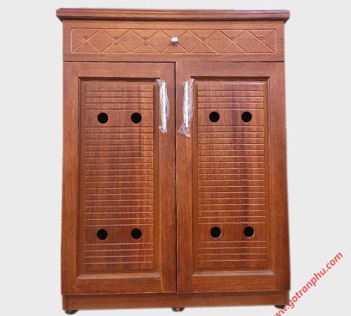 Tủ giày dép gỗ căm xe 80cm (5)
