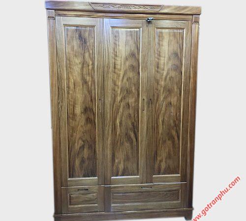 Tủ quần áo hương xám cửa mở 1m6 TA054 (2)