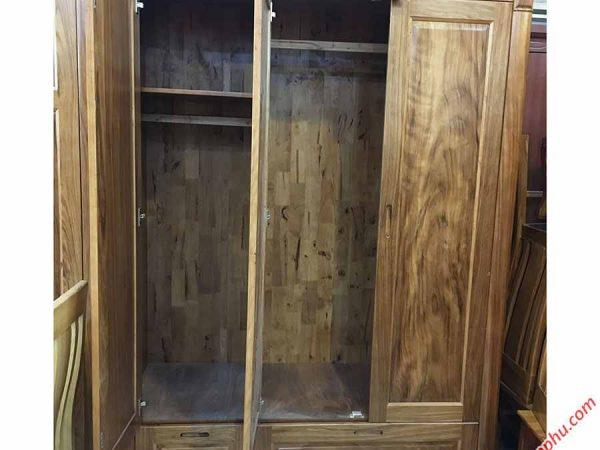 Tủ quần áo hương xám cửa mở 1m6 TA054 (5)