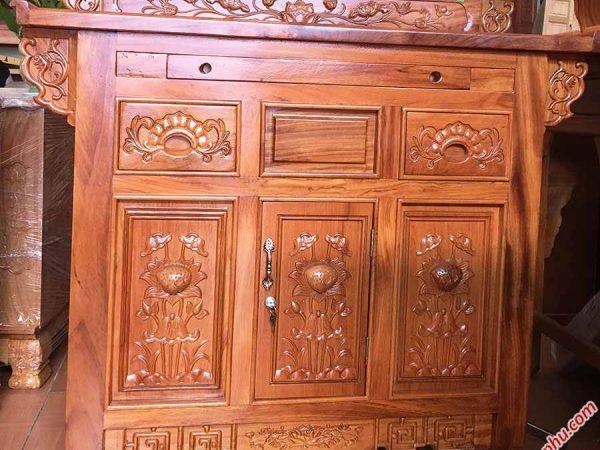Tủ thờ 2 tầng gỗ gõ đỏ TT021-22-23 (3)