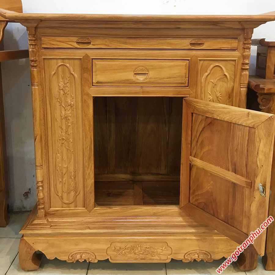 Tủ thờ gỗ Gõ Đỏ kiểu lùn 1m27-1m54 TT003-04 (2)