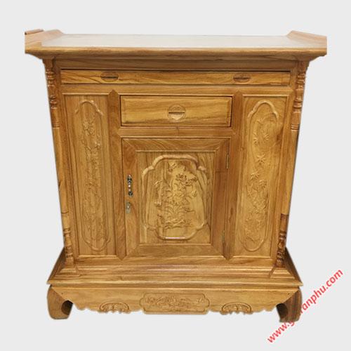 Tủ thờ gỗ Gõ Đỏ kiểu lùn 1m27-1m54 TT003-04 (3)