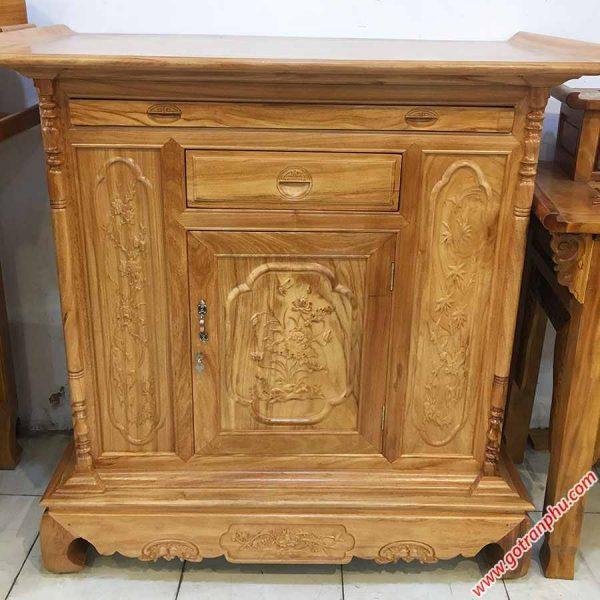 Tủ thờ gỗ Gõ Đỏ kiểu lùn 1m27-1m54 TT003-04 (4)