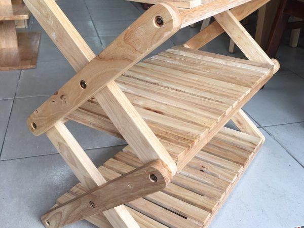 Kệ dép chữ X gỗ cao su 3 tầng KD021 (12)