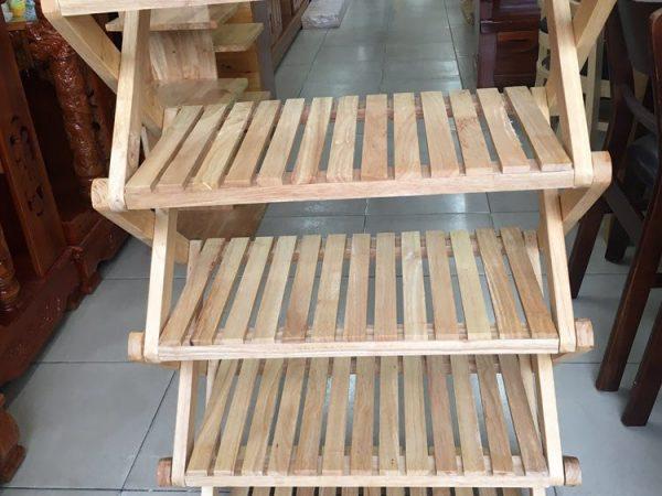 Kệ dép chữ X gỗ cao su 5 tầng KD023 (1)