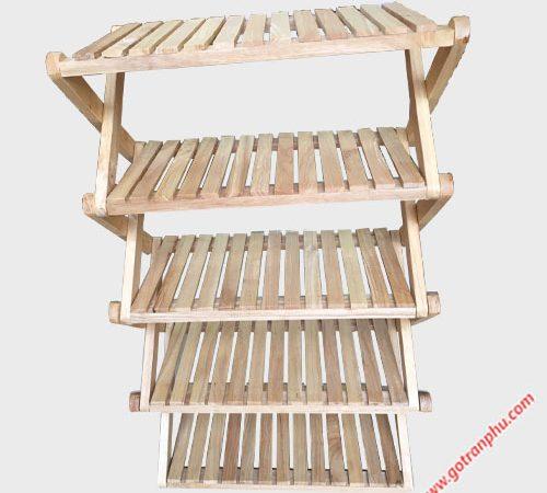 Kệ dép chữ X gỗ cao su 5 tầng KD023 (5)