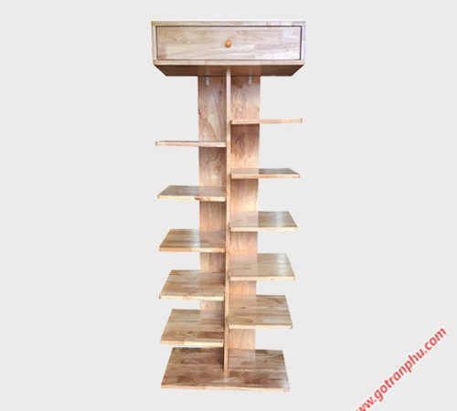 Kệ giày dép gỗ cao su 12 ngăn 1m6 KD024 (6)