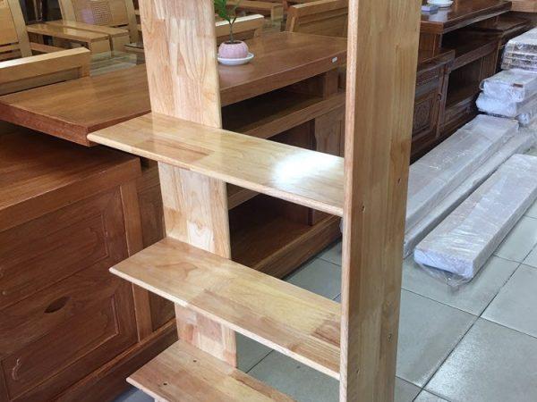 Kệ góc tường gỗ cao su 4 tầng KS039-40 (1)