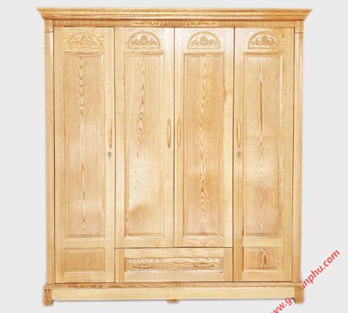 Tủ quần áo gỗ Sồi 1m8 - 2m TA016-017 (2)