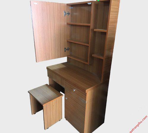 Bàn trang điểm gỗ Melanine gương hộc mở BT026 (4)