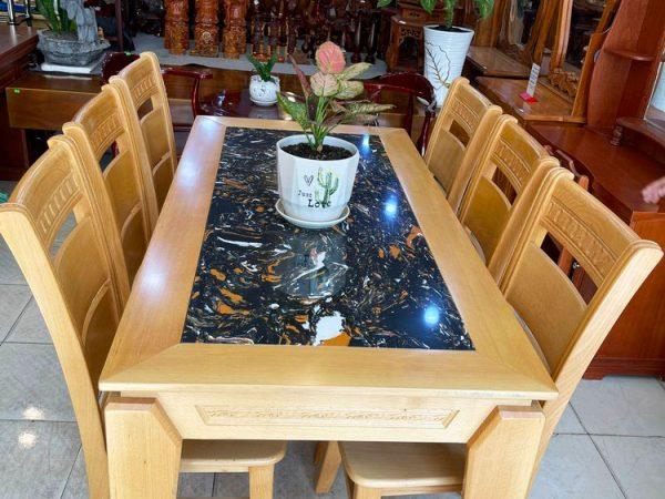 Bộ bàn ăn gỗ Bích mặt đá 1m6 BA053 (3)