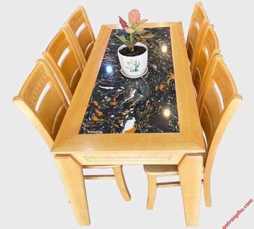 Bộ bàn ăn gỗ Bích mặt đá 1m6 BA053 (5)