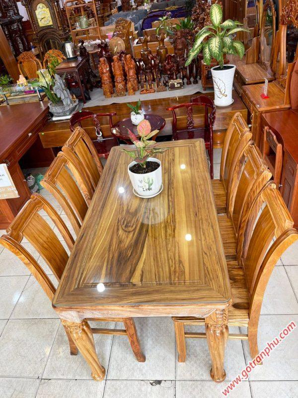 Bộ bàn ăn gỗ Hương xám 6 ghế 1m6 BA051(4)