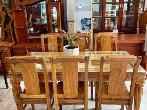 Bộ bàn ăn gỗ Hương xám 6 ghế 1m6 BA051(5)