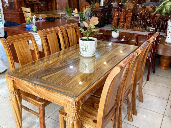 Bộ bàn ăn gỗ Hương xám 6 ghế 1m6 BA051(6)