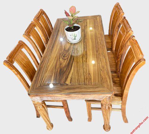 Bộ bàn ăn gỗ Hương xám 6 ghế 1m6 BA051(7)