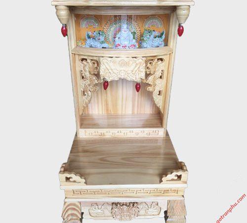 Trang thờ ông địa gỗ Thông có đèn không cột OD050-51 (3)