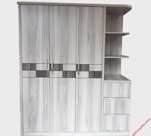 Tủ quần áo gỗ công nghiệp MDF kệ góc 1m6 TA012 (4)