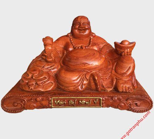 Tượng Phật Di Lặc gỗ Hương 30cm TG016 (1)